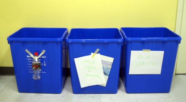 Blue Ion Recycling Bins