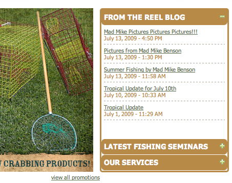 Angler Blog Feed to Home PAge