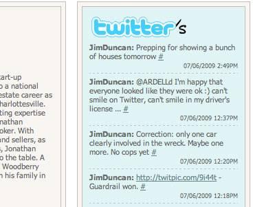 Mashup of Several Broker Twitter Accounts
