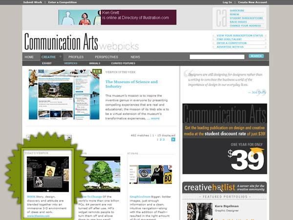 Hook Usa - Communication Arts Webpick of the Day