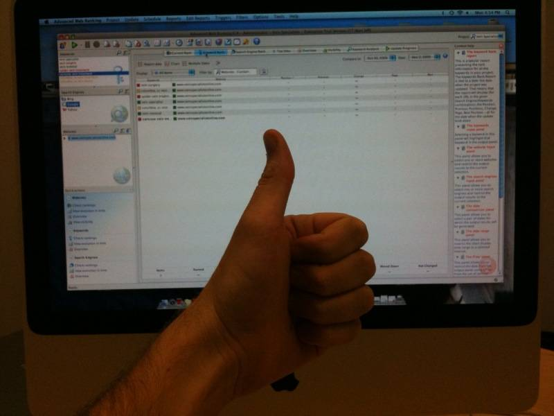 A nice, big thumbs up for the AWR at work.