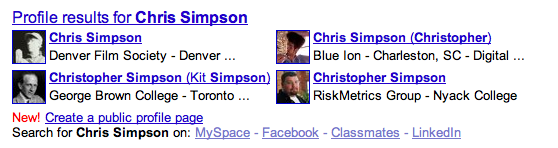 Chris Simpson on Google