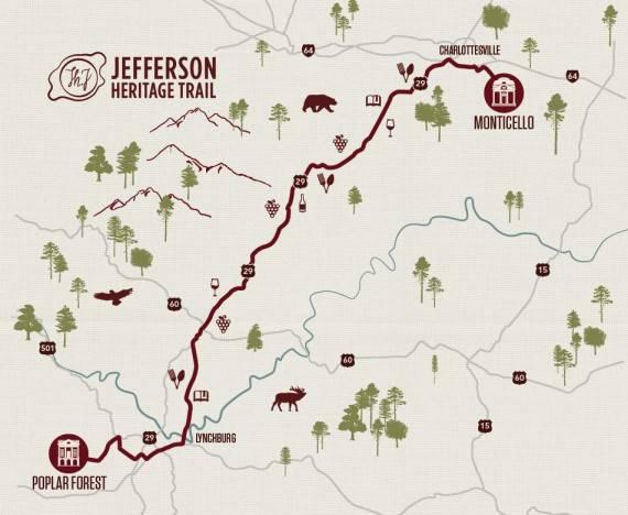 Jefferson Heritage Trail Map