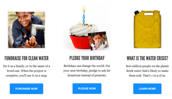 Charity Water - Call To Action