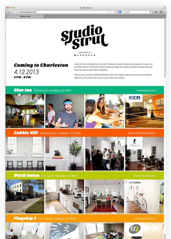Studio Strut site designed by Blue Ion