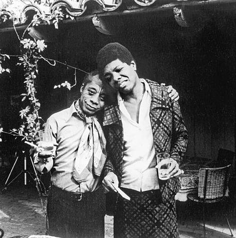 With writer James Baldwin