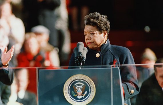 Speaking at the 1993 Presidential Inauguration