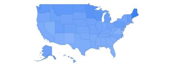 Google Trends Map