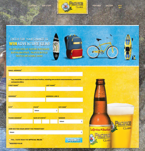 Pacifico Giveaway