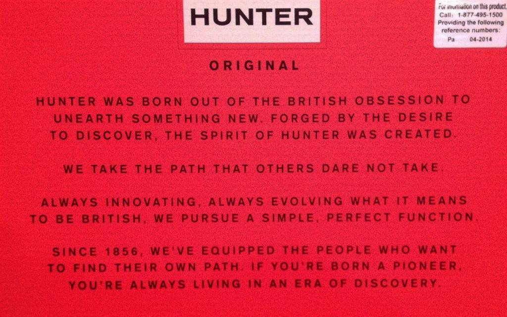 Hunter Boots Packaging