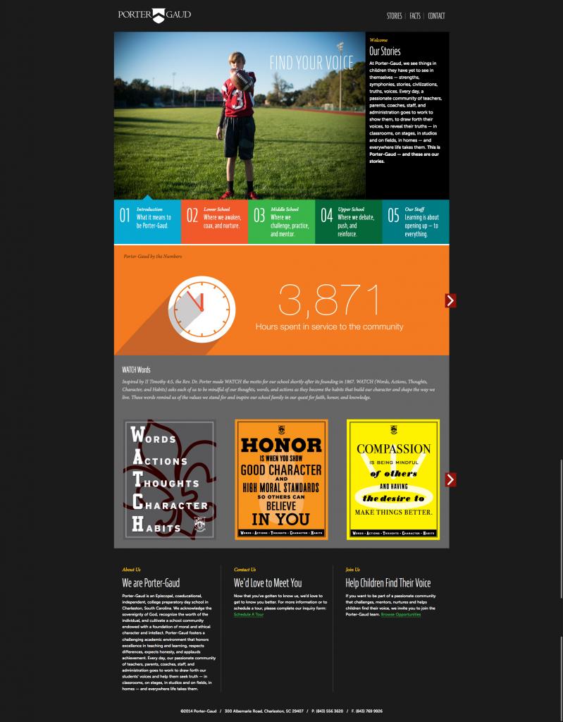 Porter Gaud homepage