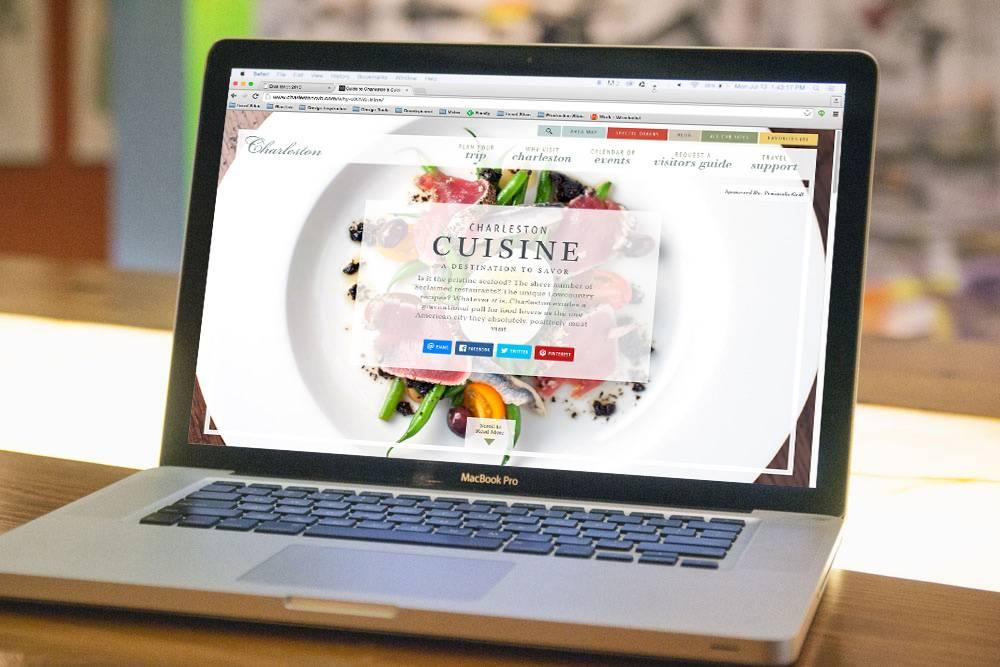 Charleston CVB Website Cuisine Guide
