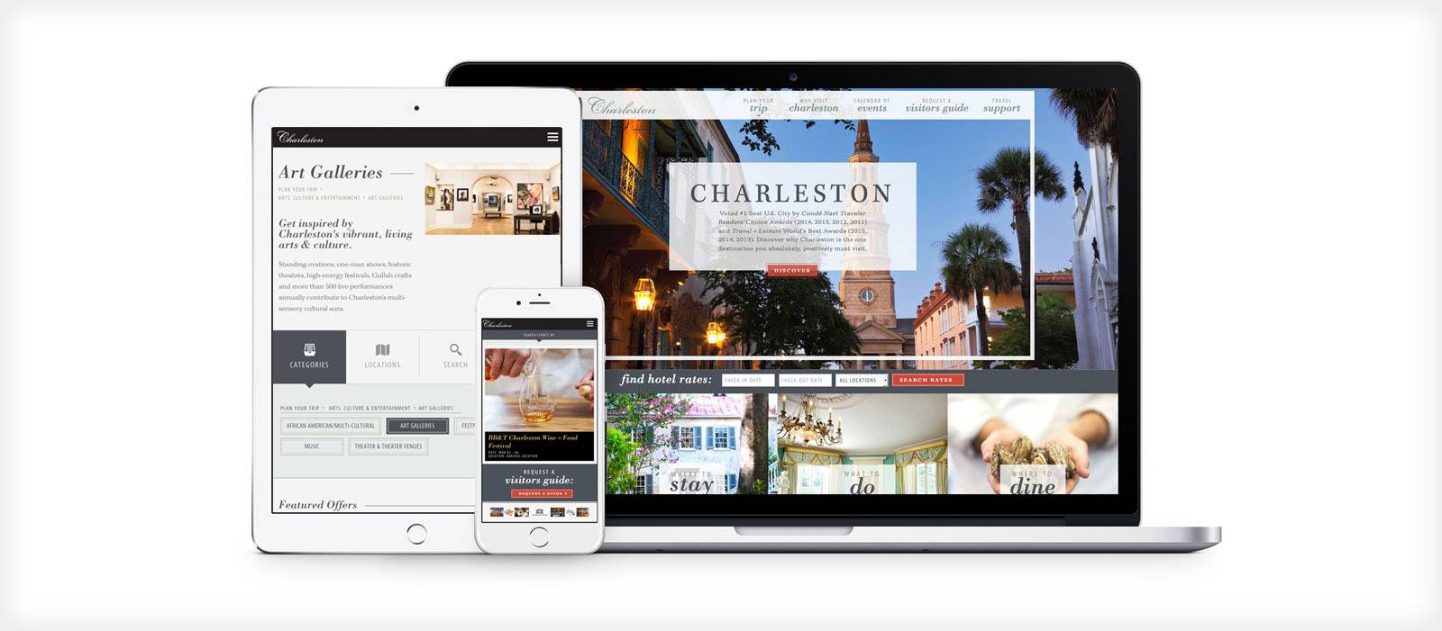 CVB Visitors Website Redesign responsive