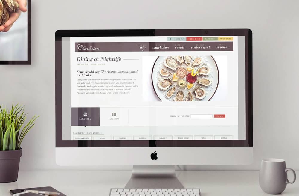 Charleston CVB Website Dining Listings