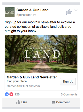 Facebook Lead Ad