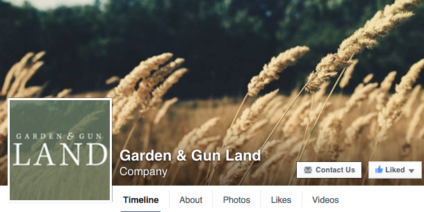 Garden & Gun Land Facebook