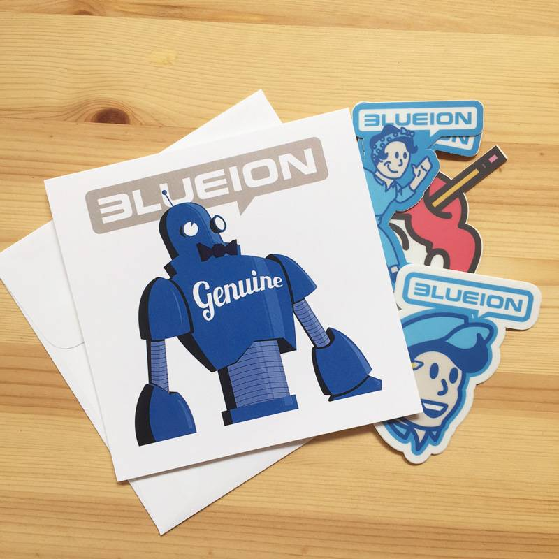 Blue Ion Sticker Pack