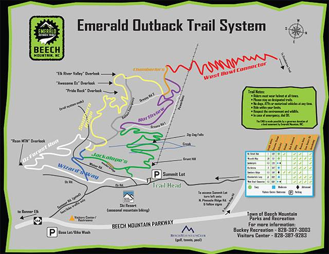 Emerald Outback Trail Map