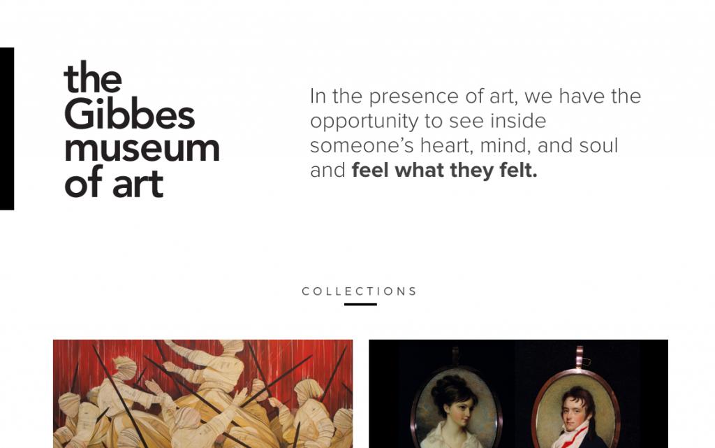 Gibbes Museum manifesto in header