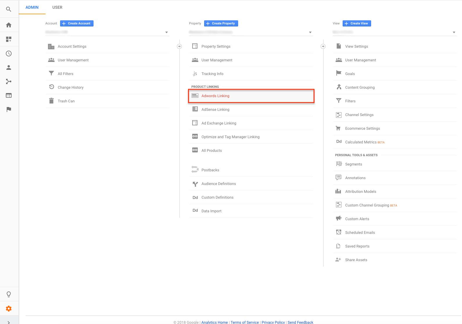 Link Google AdWords to Google Analytics