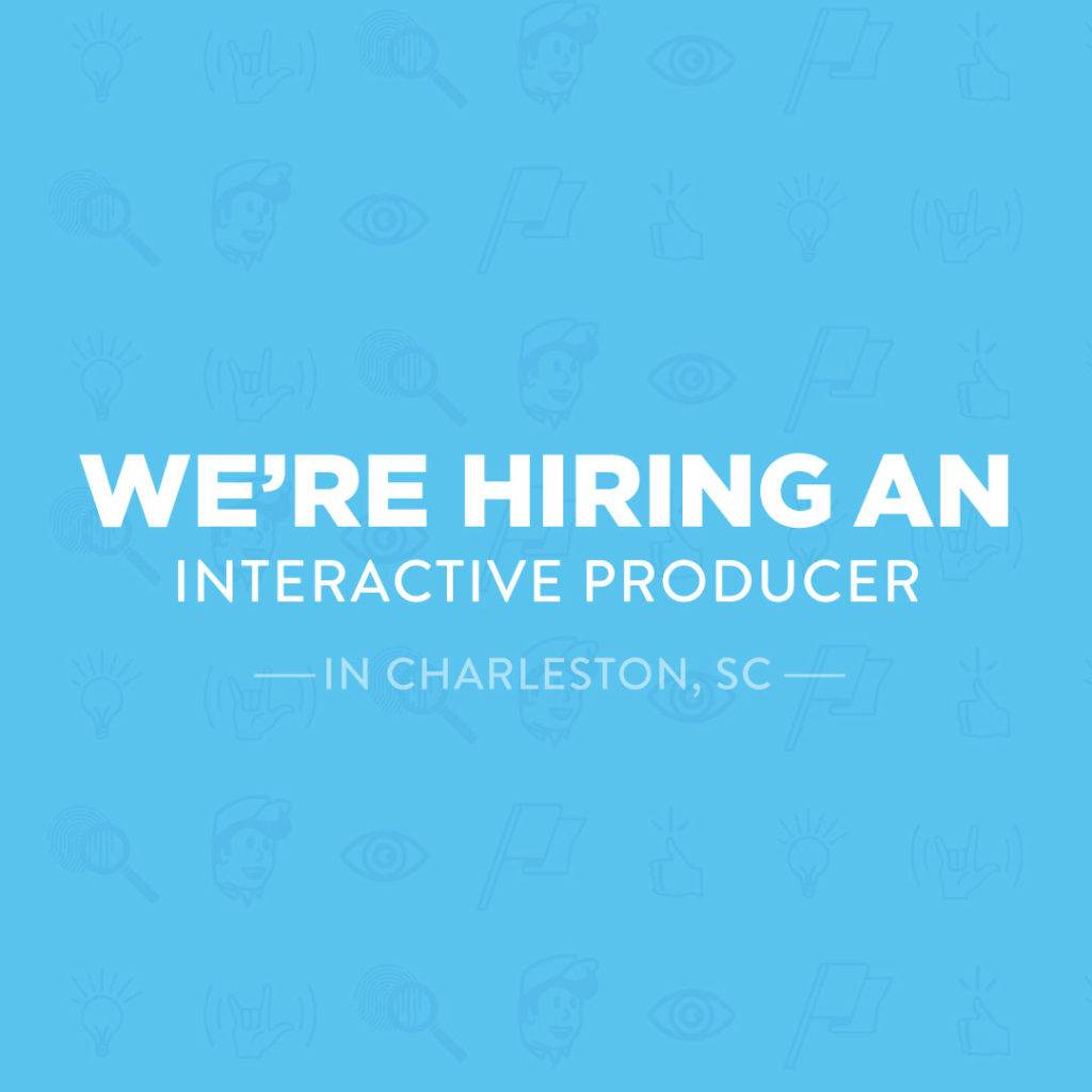 blue ion is hiring a new interactive producer