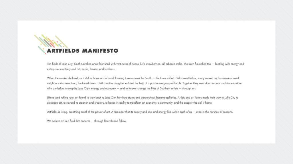 ArtFields - Unleashing An Arts Movement To Revitalize A